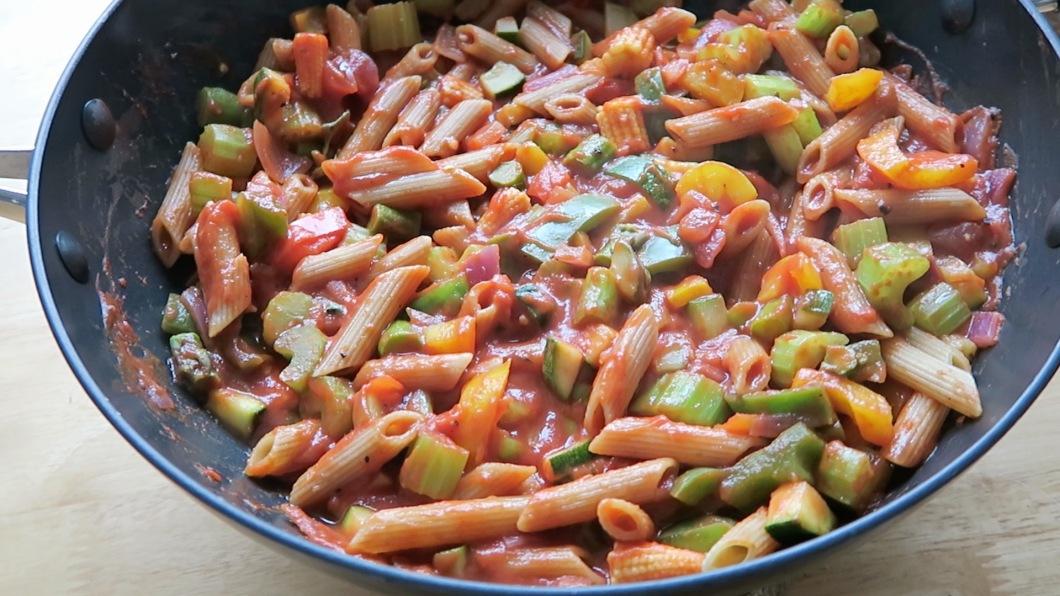 Vegetarian Tomato Pasta